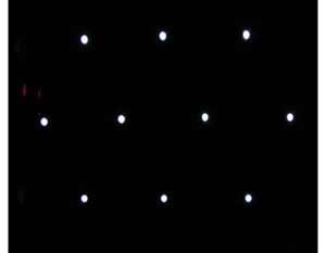 六边形排布微透镜阵列焦点